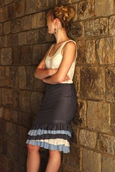 Summer of Skirts. Anthropologie Ruffled Skirt Tutorial. (I will have to learn how to sew)