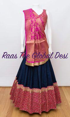 Chaniya Choli For Navratri Half Saree Designs, Choli Designs, Lehenga Designs, Blouse Designs, Blouse Patterns, Dress Designs, Kurta Designs, Half Saree Lehenga, Indian Lehenga