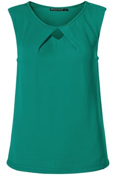 Top met hals detail Groen - Sale - Collectie