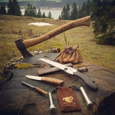 Regrann from - Bushcrafttools in the… - Tap the link to see the newly released survival collections for tough survivors out there! Bushcraft Gear, Bushcraft Camping, Camping Tools, Camping Survival, Outdoor Survival, Camping Equipment, Survival Gear, Camping Gear, Camping Hacks