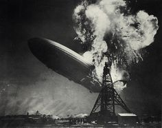 On May 6, 1937 the German airship caught fire and crashed upon landing in Lakehurst, New Jersey. Thirty-six people died in the disaster (13 passengers, 22 crew members, and 1 ground crew member).