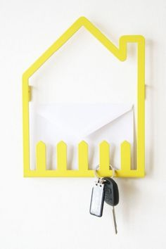 Items similar to HUS - STECCATO // a home for your keys, papers & everyday items on Etsy Tole Pliée, Key And Letter Holder, Metal Artwork, Little Houses, Home And Living, Metal Working, Furniture Design, Interior Decorating, Home Decor Ideas