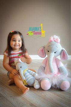 Stuffed Elephant / Crochet Elephant / Amigurumi Elephant /