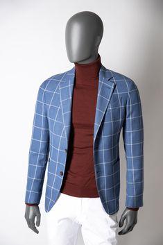Exklusives Sakko mit stilsicherem Karo. Pullover, Trends, Slim Fit, Outfit, Jeans, Blazer, Jackets, Fashion, Down Jackets