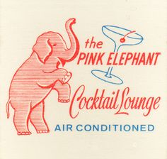 """Pink Elephant How about doing napkins that say """"The Dolby Digital Cocktail Lounge"""""""