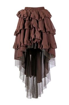 7cacd51b42 From the Steampunk Fashion Guide to Skirts & Dresses: High-Low Hem Skirts -  burleska ophelie skirt in cream lace   Steampunk in 2018   Pinterest    Skirts, ...