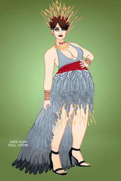 Abigail Colling- Week Crane by DuskyAsianRose ~ The Fly Squad Fashion Dress… Fashion Dolls, Fashion Dresses, Modern Fashion, Beautiful Birds, Crane, Squad, Disney Characters, Fictional Characters, Disney Princess