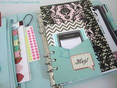 Planner Organization and custom tabs/page ideas using Kikki.k planner :: Strange and Charmed blog