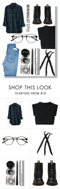 """Winter Style"" by aradiamegiddy ❤ liked on Polyvore featuring Madewell, adidas Originals, Bobbi Brown Cosmetics, Dr. Martens, AG Adriano Goldschmied, Minimaliststyle and flannelshirt"