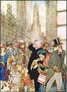 Arthur Rackham illustration from Where the Blue Begins by Christopher Morley Arthur Rackham, Fables Comic, Christopher Morley, Central Michigan University, Classic Fairy Tales, Edmund Dulac, Children's Literature, City Art, Illustrators
