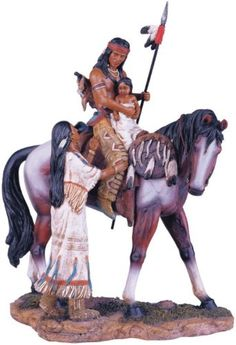 indian figurines collectibles | Native American Family Collectible Indian Figurine Sculpture Statue