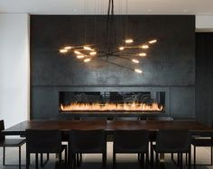 hot rolled steel fireplace... gorgeous!