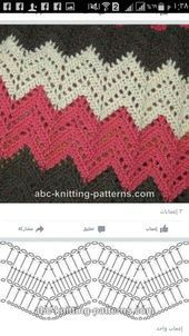 Best 8 Herringbone, Zig Zag Crochet Stitches for Free. Zig Zag Crochet Pattern, Crochet Motifs, Crochet Diagram, Crochet Stitches Patterns, Crochet Chart, Crochet Designs, Free Crochet, Knitting Patterns, Crochet Ripple Blanket