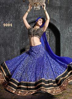 New Arrival Blue Designer #LehengaCholi, Indowesten And #SalwarSuit In Pant Style (3 In 1)  #craftshopsindia