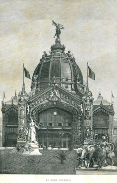Central Dome Paris Exposition 1889 Vintage от CarambasVintage