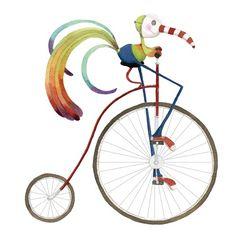 Mónica Carretero Ilustración - monica carretero, tradicional, pintura, pintado, acuarela, tinta, acuarela, libro ilustrado, ficción, educativos, comerciales, comercio, pájaros, bicicletas, ciclismo, bicicletas