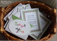 Story of 10 lepers and a thank you note attatched to write to someone. Cute for Activity Days or FHE