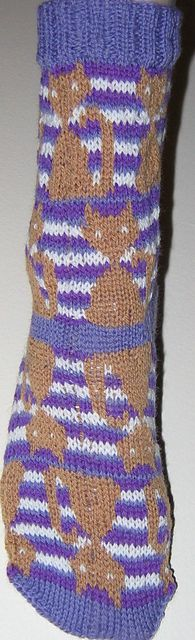 Colorwork kitty socks! Someday...
