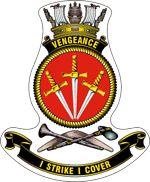 HMS Vengeance (R-71), ship's badge.