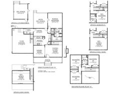 "House Plan 1827-A TAYLOR A floor plan - 1827 Square Feet 52'-0"" wide by 52'-0"" deep 4 or 5 bedrooms/2 1/2 baths 2 Car Garage Optional Bonus Room Flexible Second Floor plan"