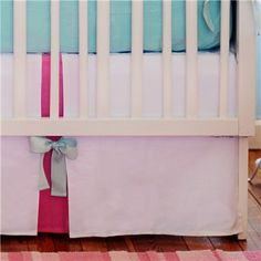 New Arrivals Crib Skirt Pinwheel Punch- Layla Grace