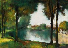 Lesser Ury (German, 1861 -1931)   - Märkische Landschaft, 1911