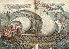 """""""Beschreibung Konstanz von der Reise nach Jerusalem"""", 1487."""