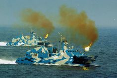 PLA Navy Type-002 Fast Attack Missile Boat Shooting Main Gun