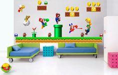 Huge Super Mario Bros Wall Sticker Decal Wandstick Riesigen Mural Home Decor 31 | eBay