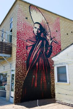 "30ft. ""BURMESE MONK"" By: Shepard Fairey in San Diego via @Susan Strauss"