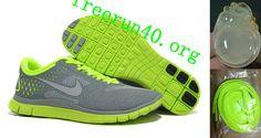 Mens Nike Free 4.0 V2 Stealth Reflective Silver Volt Shoes