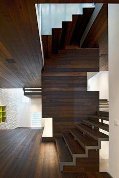 ♥ minimalistische Innenarchitektur-Treppenhaus