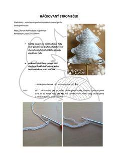 Háčkovaný stromeček - návod.pdf - Disk Google Arrow Necklace, Xmas, Crochet, Google, Christmas, Navidad, Ganchillo, Noel, Crocheting