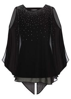 Top ze sztrasami • czarny • bonprix sklep Magenta, Your Style, Lei, Blouse, Long Sleeve, Sleeves, Tops, Women, Fashion