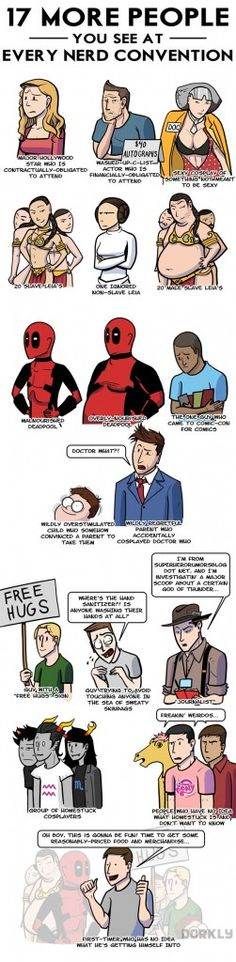 Dorkly Comic: 17 People You See At Every Nerd Convention This.