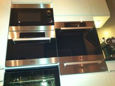 Oven, micro, wine and steamboiler from Miele in my kitchen