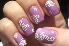 Cool nail art for summer.