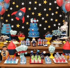 What an amazing outer space birthday party! See more party ideas at CatchMyParty.com!