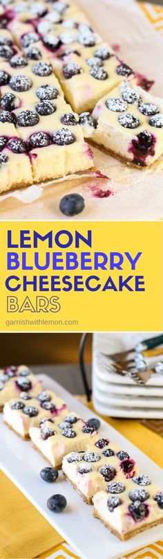 Lemon Blueberry Cheesecake Bars are always a hit! Make them and watch them disappear!
