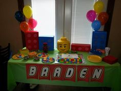 Braden's Lego Party! We are very proud of our mostly handmade decorations. :)