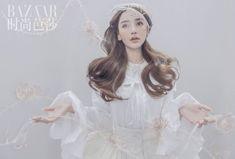 BAZAAR × Angelababy (11/2020) Angelababy, Flower Girl Dresses, Girls Dresses, Elsa, Disney Princess, Wedding Dresses, Drama, Magazine, Fashion