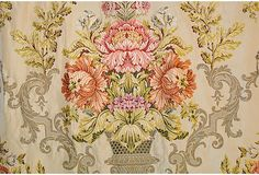 19th century embroidered French brocade silk; curated by Pandora De Balthazar
