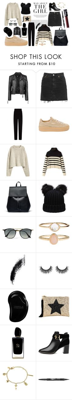 """The Girl"" by elinaandersson-1 on Polyvore featuring Kershaw, Boohoo, Topshop, Balenciaga, Puma, Sole Society, Ray-Ban, Accessorize, Tangle Teezer and Lisa Bea"