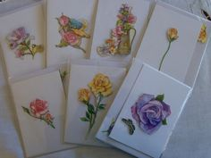 Boxed set  Beautiful Handmade Australian Floral Gift Cards includes Pen