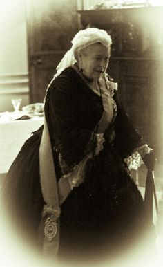 Queen Victoria at Aston Hall ( I see a little bit of the future QE2 in this Queen's candid look).