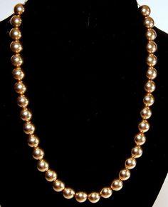 Fine Jewelry 14K Gold Beaded Necklace bYiRyNHD