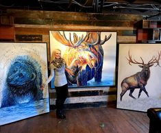 Stop by Park City Fine Art to see these original paintings and many more! Colorful Artwork, People Art, Selling Art, Wildlife Art, Park City, All Art, Painting & Drawing, Photo Art, Art Projects