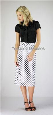Black and White Polka Dot Pencil Skirt, mikarose, mikarose summer, mikarose summer 2013, pencil skirt, modest skirt, church skirt, lds, lds clothing, modest clothing, polka dot skirt