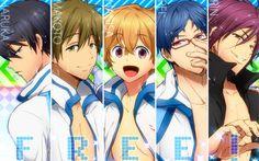 Free! Iwatobi Swim Club Anime Boys Seijuro Nagisa Hazuki Rin Matsuoka ...