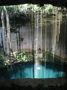 """Ik Kil Cenote, (some refer to it as ikil cenote) is a deep natural pit usually open to the sky (formed by the collapsing of a cave), Mexico has a special name for those kind of places: """"cenote"""" -taken from Mayan language word for a well. some Cenotes were a sacred, Young men and women were thrown and left to drown there,as a sacrifice to the god of rain)"""